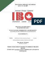 IBO 2007 Pract 2-1 Plant Biology
