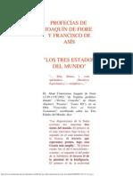 Profecías de Joaquín de Fiore y Francisco de Asís