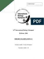 IBO 2004 Theory Part 1