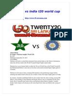 Pakistan vs India t20 World Cup 2012