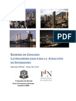 Ranking Ciudades Latinoamerica INAI 2012