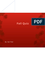 fall quiz