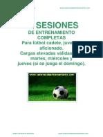 20 Sesiones de Entrenamiento de Futbol