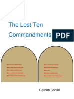 The Lost Ten Commandments