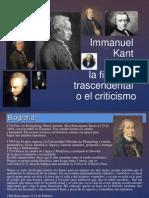 4. Kant y la Filosofía trascendental o el Criticismo