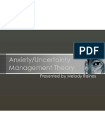 Anxiety-Uncertainty Management Theory (Class Presentation)
