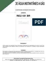 Manual Rinnai 181br