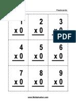 Multiplication Flashcards 1-12