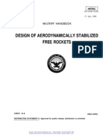 Design of Aerodynamically Stabilized Free Rockets