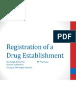 Registration of a Drug Establishment
