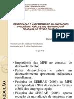 IDENTIFICAÇÃO E MAPEAMENTO DE AGLOMERAÇÕES PRODUTIVAS