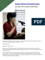 Chu Takes on Campaign Reform at Pasadena Panel_LA Times-Pasadena Sun