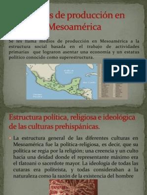 Medios De Producción En Mesoamérica Mesoamérica Agricultura