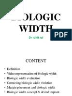 Biologic Width