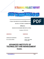 Project or Summer Training Report on Brand Image of JCB