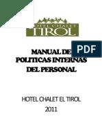 Manual Personal Hotel Tirol