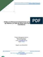El Marco de Referencia de Experiencias en Gobierno en Línea del Atlántico y el Valle del Cauca como Territorios Digitales Colombianos - iGOB 3.0