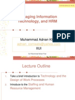 Lecture 6, Organizing -Managing Information Technology, Design, HRM-New