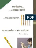 Recorder Presentation