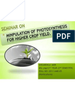Minpulation of Photosynthesis for Higher Crop Yield