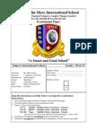 Grade 1 Culture Exam 1st Half Semester 2010-2011