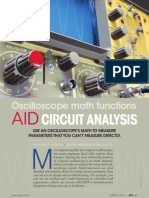 Oscilloscope Math Functions Aid Circuit Analysis