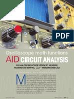 Oscilloscope Math Functions Aid Circuit Analysis