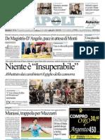 repubblica 30.9.12 - De Magistris-D'Angelo, pace in attesa di Monti