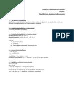 ECON3202 Ch3 - Equilibrium Analysis in Economics