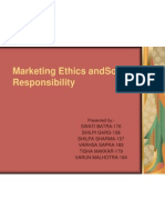Marketing Ethics AndSocial Responsibility