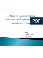 A Study on Consumer Buying Behaviour and Preference