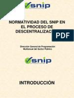 SNIP - Normatividad