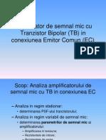 05_amplificator de Semnal Mic Cu TB in Conexiunea EC