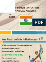 Fiscal Deficit & Inflation