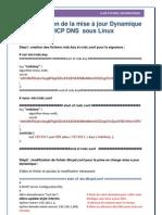 Configuration De la mise à jour Dynamique DHCP DNS  sous Linux