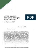Esprit 5 - 7 - 193302 - Aron, Raymond - Lettre ouverte d'un jeune Français à l'Allemagne