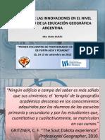 PRESENTACIÓN DIANA DURÁN ENCUENTRO PROFESORADOS DE GEOGRAFÍA