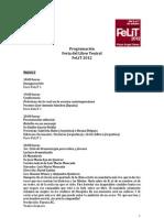 Programación FeLiT 2012