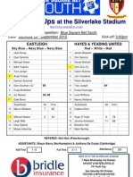 Eastleigh v Hayes & Yeading - 290912