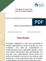controlo de qualidade dos produtos da tecnicil industrias Nilton Césra Fernandes Gomes
