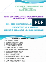 PVK Presentation on Sustainable SWM in Developing Countries.