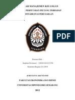 Makalah Manajemen Keuangan Cover