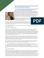 La RDC en Voie d'Entrer en Programme Formel Entre RDC Et FMI