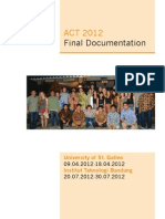 ACT 2012 - Final Documentation