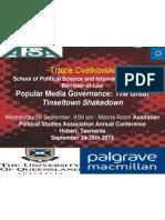 Popular Media and Copyright Governance APSA Presentation by Trajce Cvetkovski