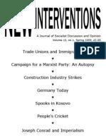 New Interventions, Volume 13, no 1