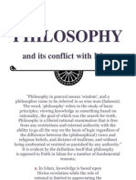 PHILOSOPHY and Its Conflict With ISLAM