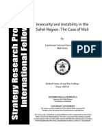Insecurity and Instability in the Sahel Region- The Case of Mali - Lt Cl Oumar Diarra Mali Army
