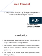 Comparative Analysis of  Bangur Cement with other Brands in jodhpur Region