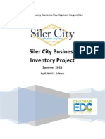 Siler City Business Inventory Project by Gabriel Soltren (2011)